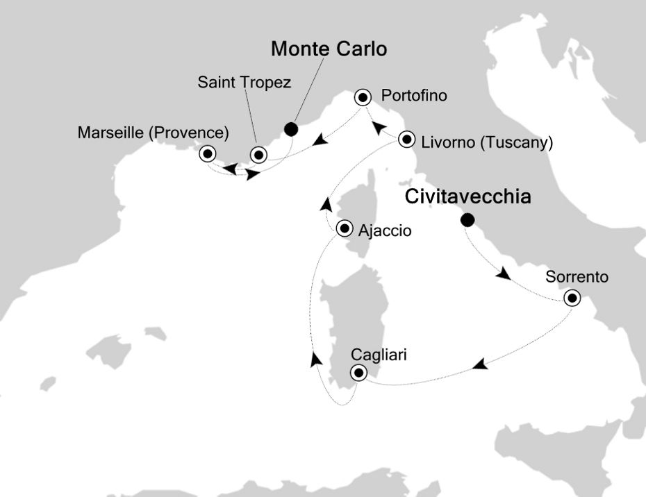 4826 - Civitavecchia à Monte Carlo