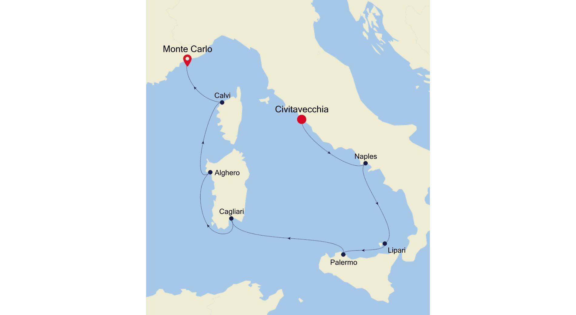 4921 - Civitavecchia nach Monte Carlo