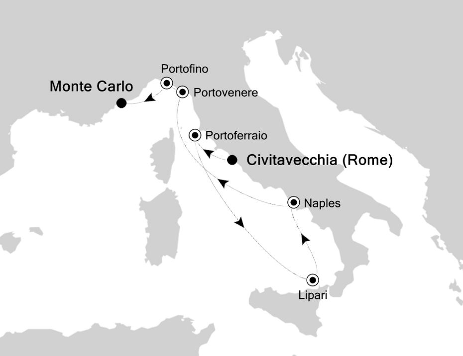 5913 - Civitavecchia a Monte Carlo