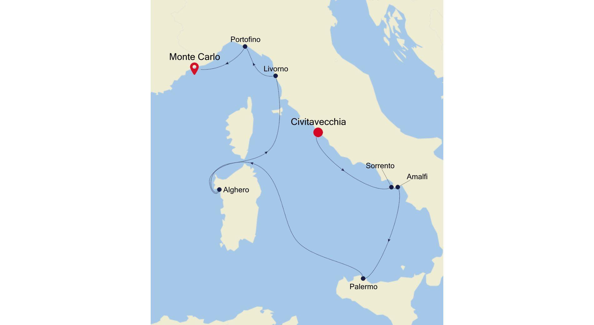 5929 - Civitavecchia nach Monte Carlo
