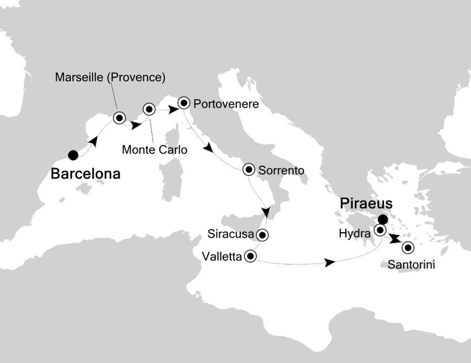 4917 - Barcelona a Piraeus