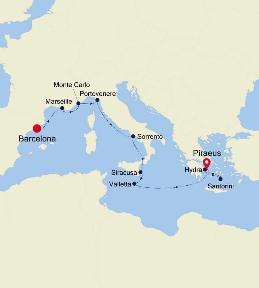 4917 - Barcelona to Piraeus