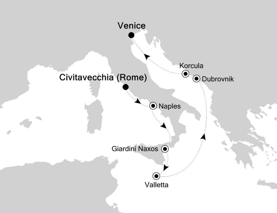 3928 - Civitavecchia to Venice