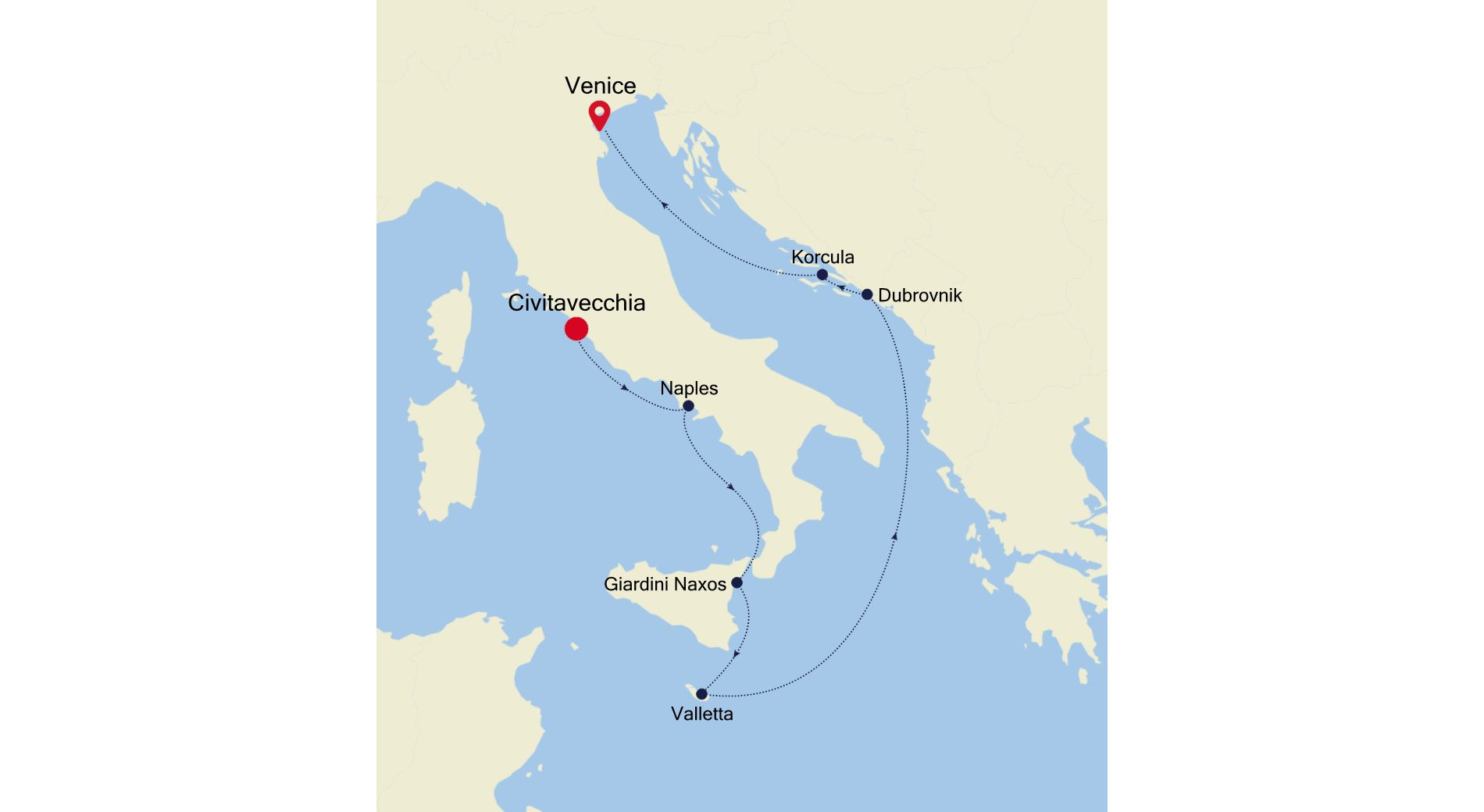 3928 - Civitavecchia to Venice