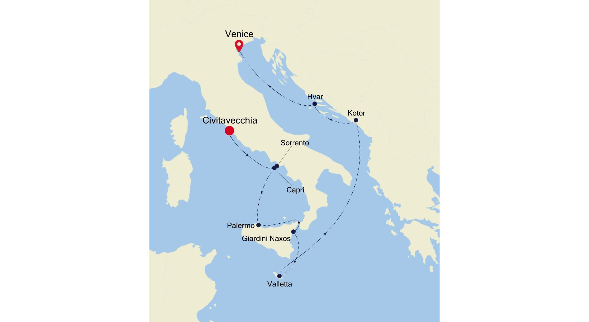 4912 - Civitavecchia to Venice