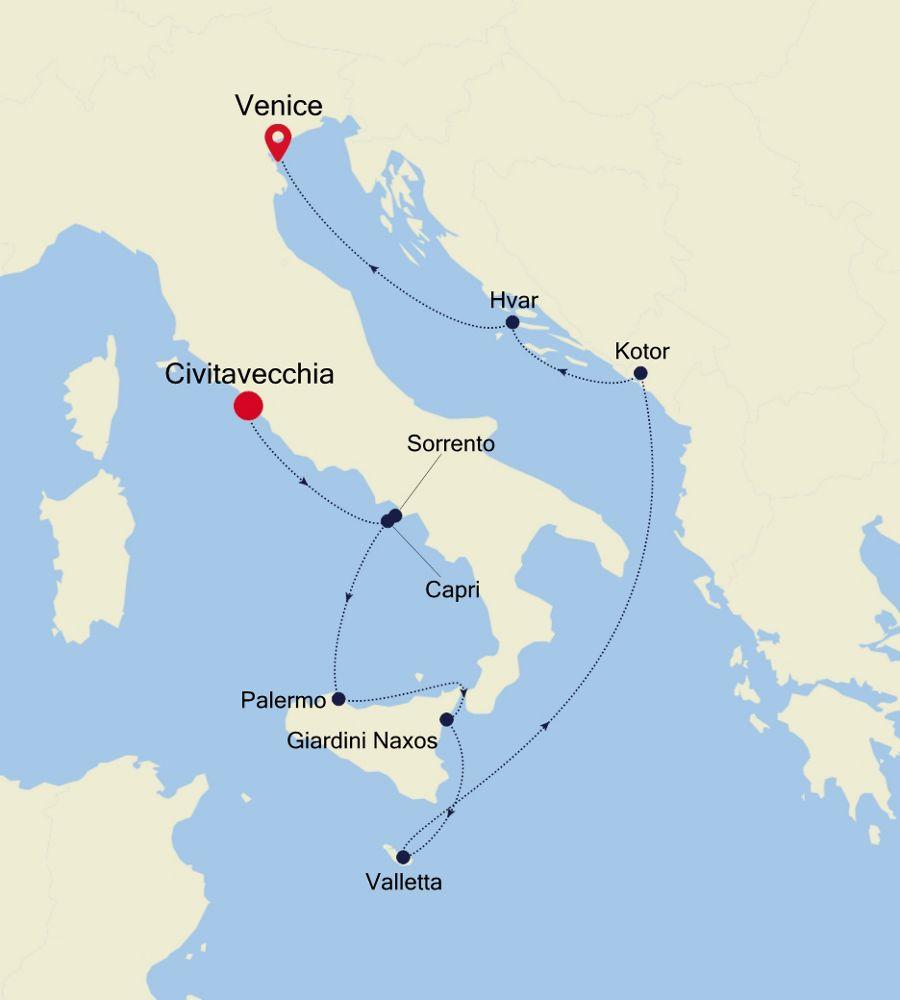 4912 - Civitavecchia to Venice