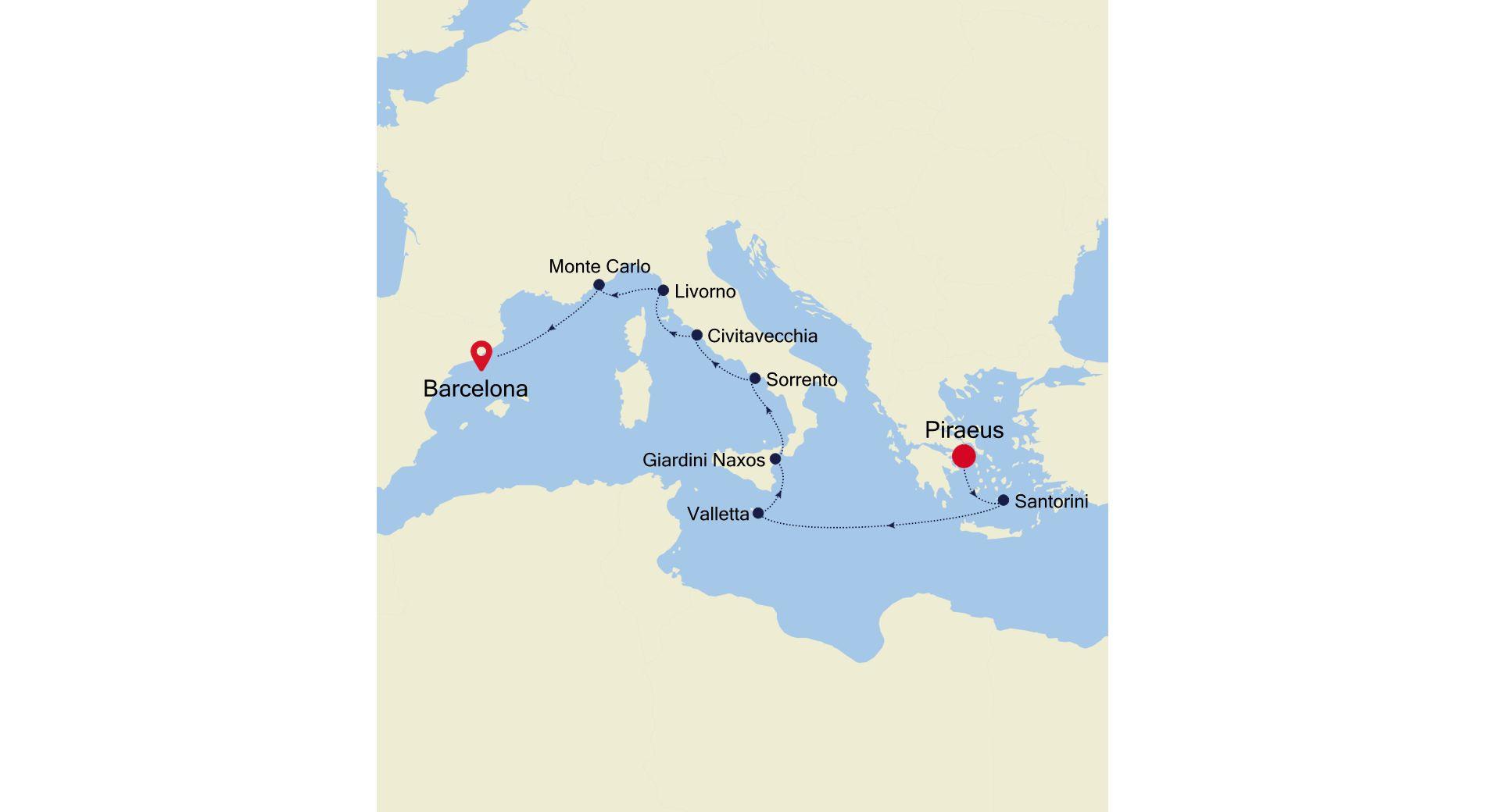 DA211013010 - Piraeus nach Barcelona