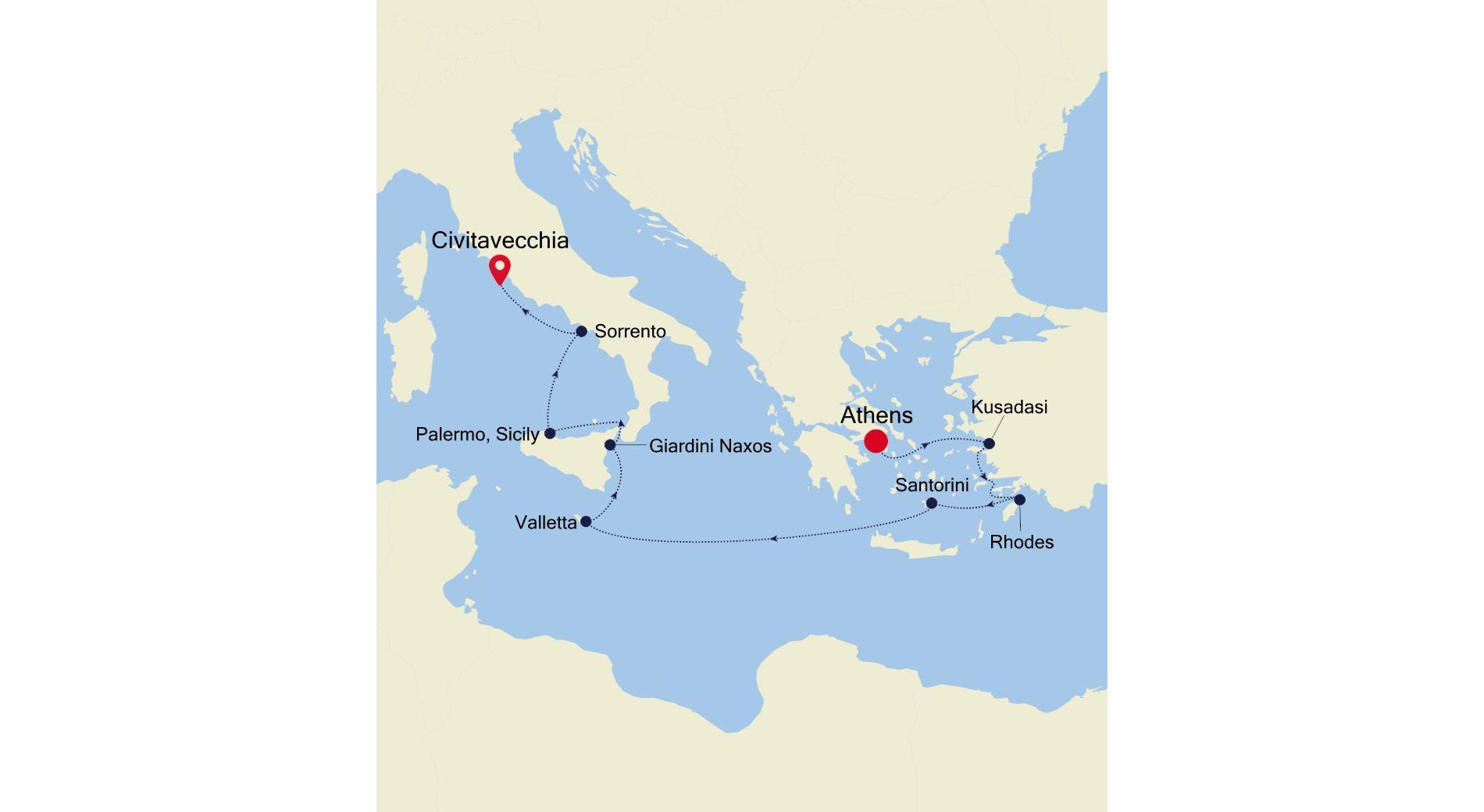 DA211020010 - Athens nach Civitavecchia