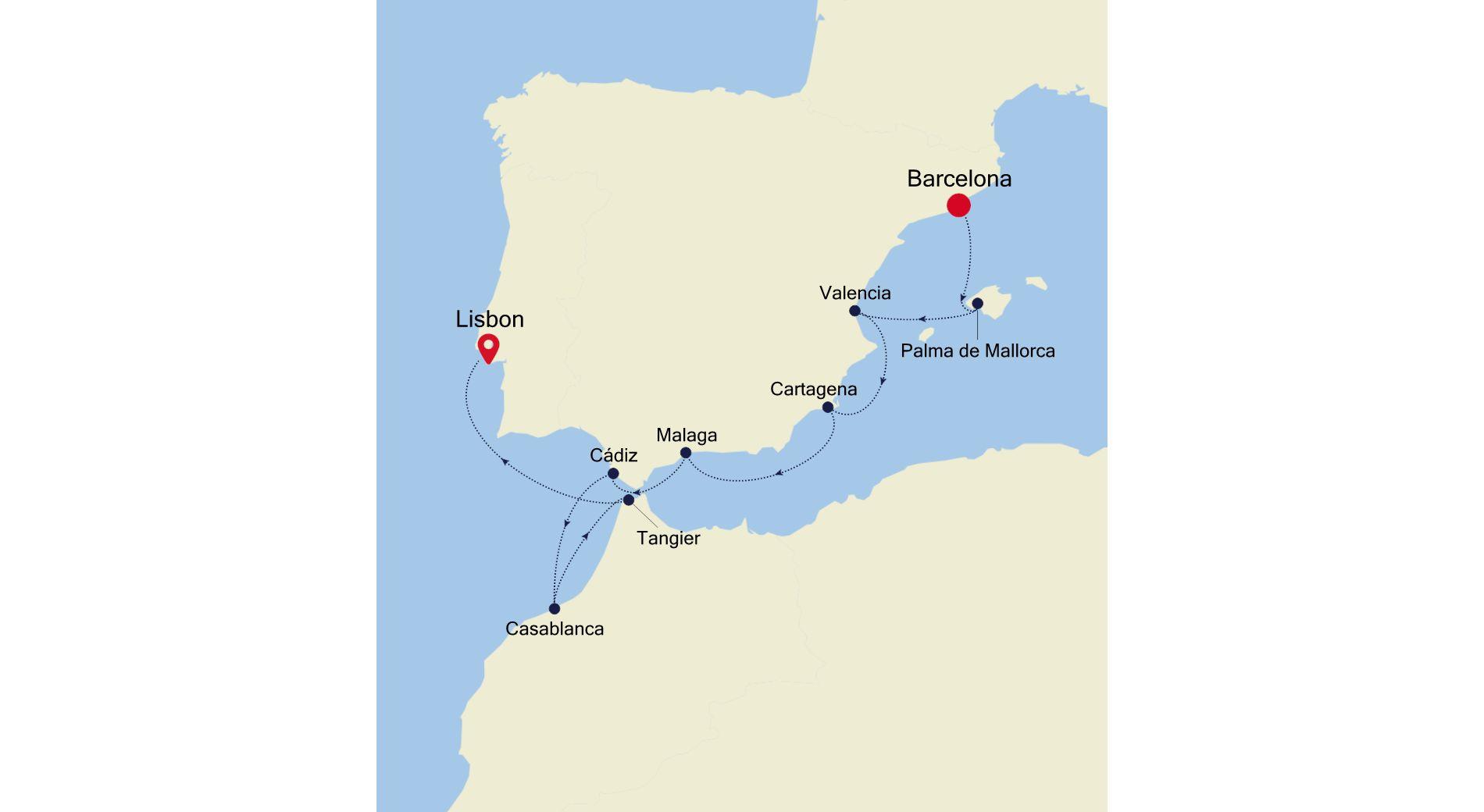 DA211109010 - Barcelona a Lisbon