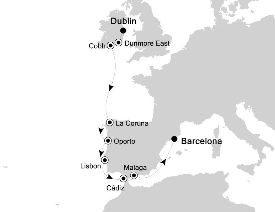 6811 - Dublin nach Barcelona