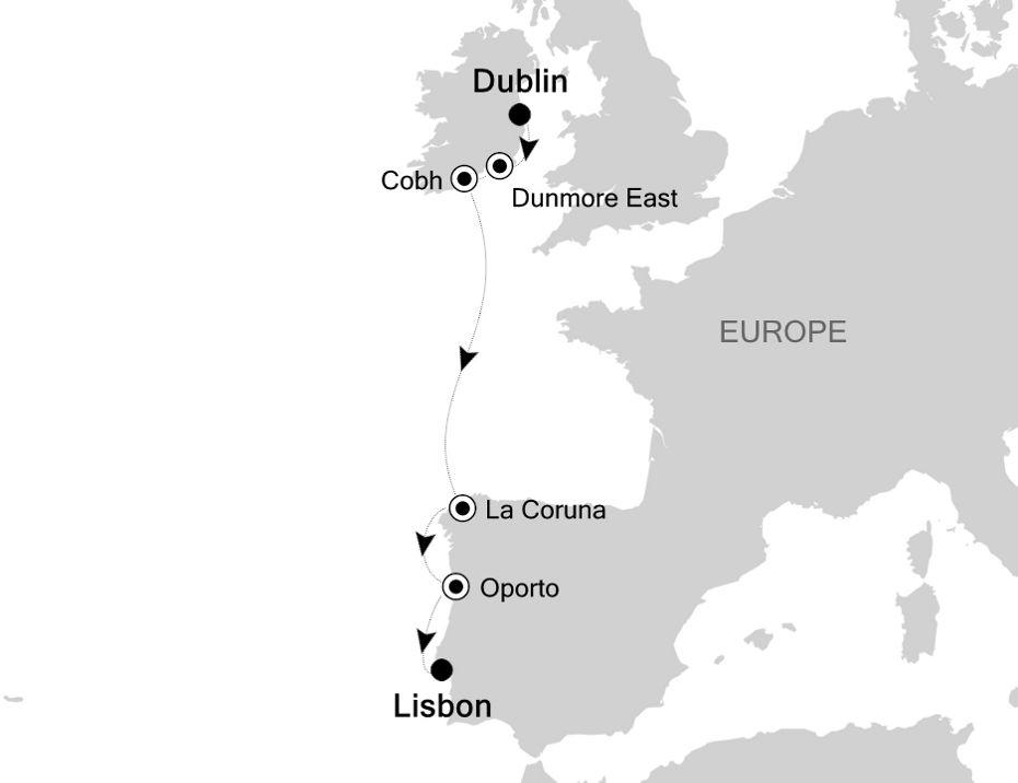 6811A - Dublin nach Lisbon