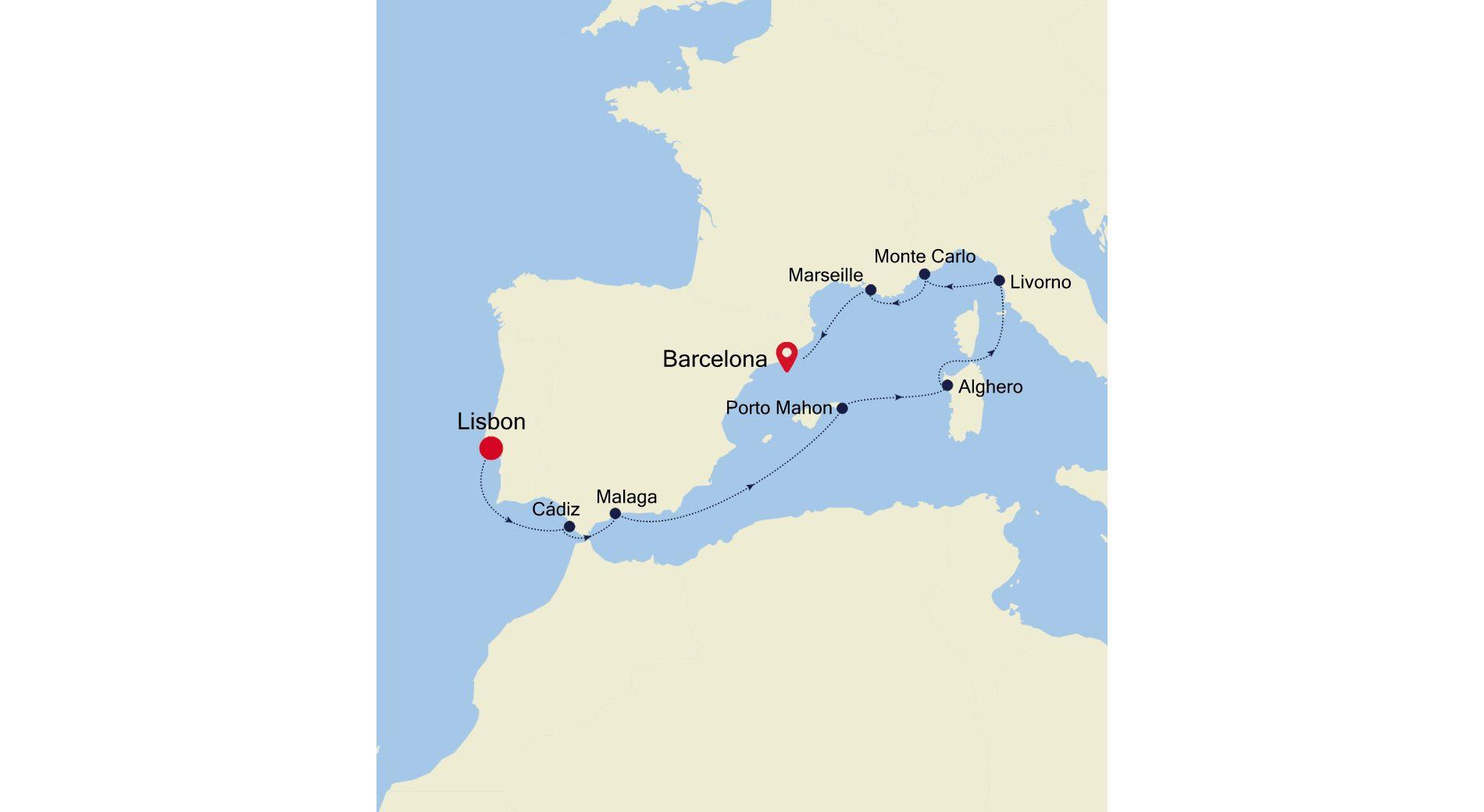 5911 - Lisbon nach Barcelona
