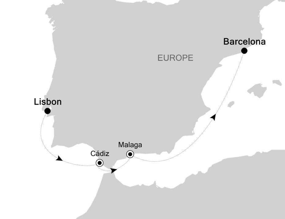 6811B - Lisbon à Barcelona