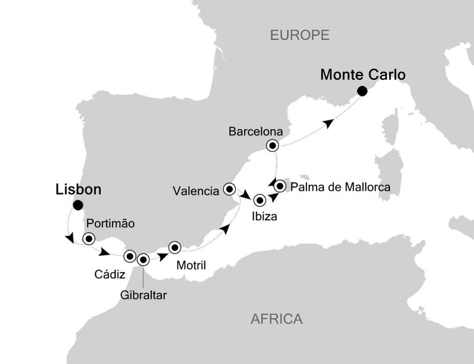 3923 - Lisbon nach Monte Carlo