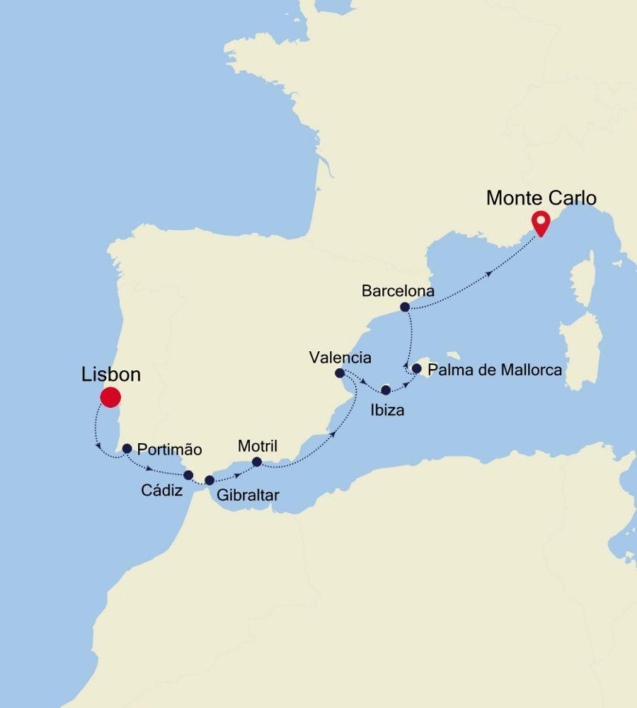 3923 - Lisbon à Monte Carlo