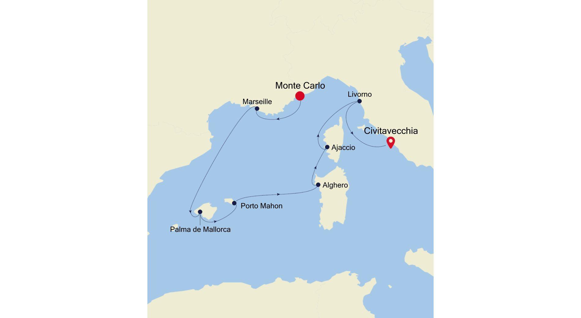 4915 - Monte Carlo à Civitavecchia