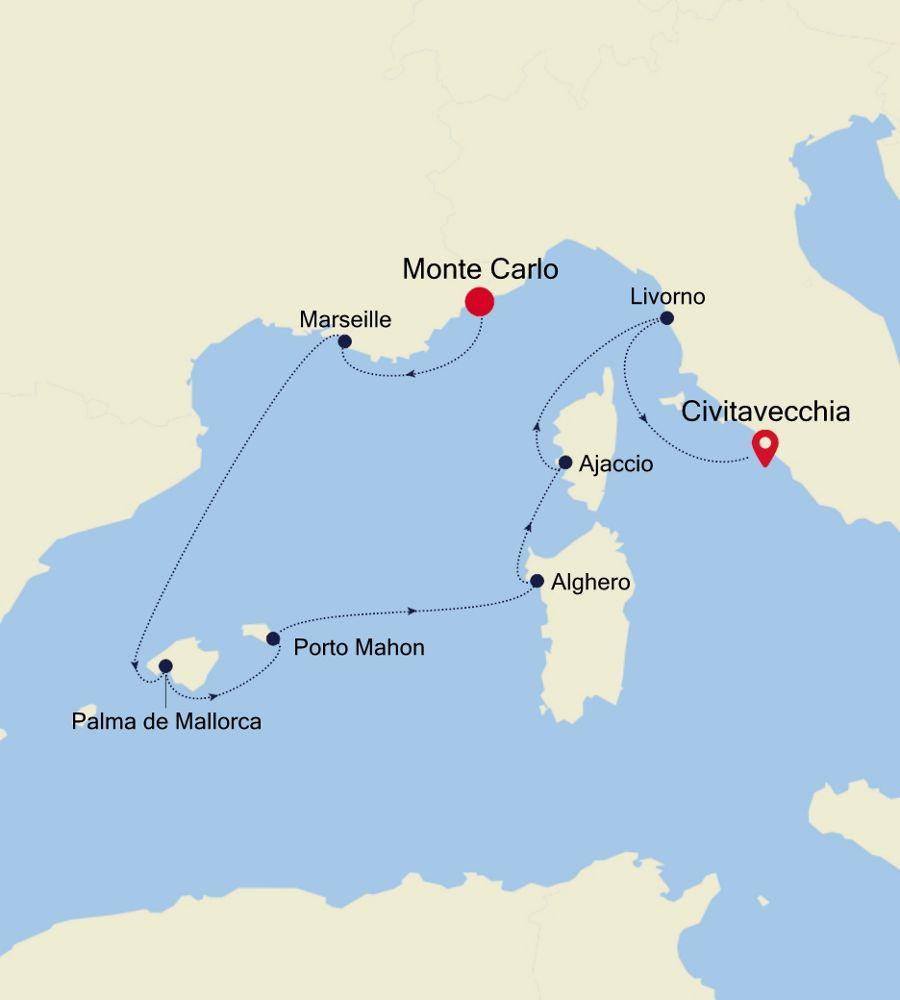 4915 - Monte Carlo nach Civitavecchia