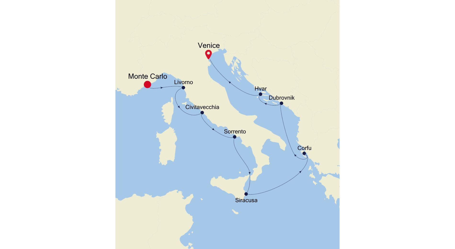 3926 - Monte Carlo nach Venice