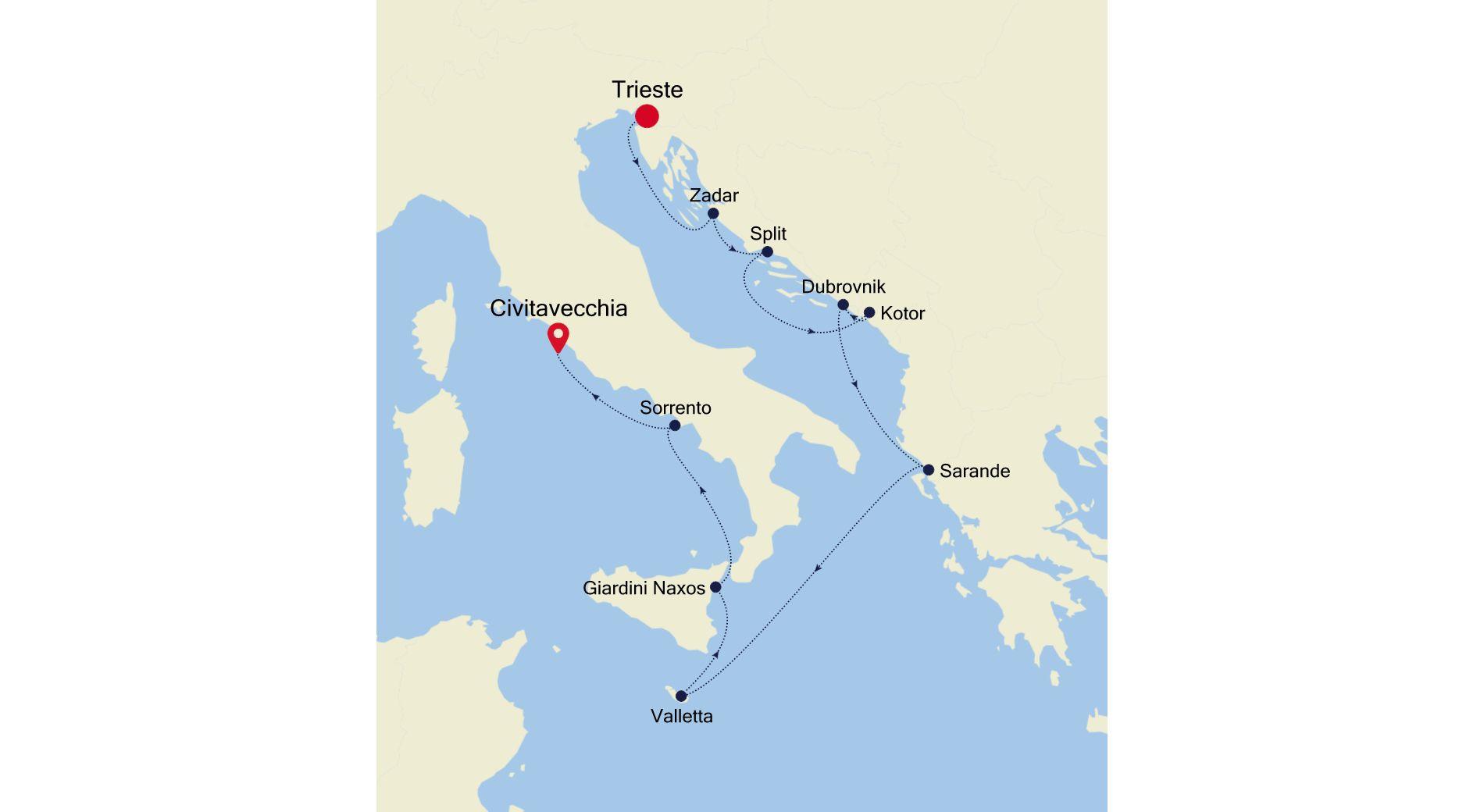 MO200806011 - Trieste to Civitavecchia