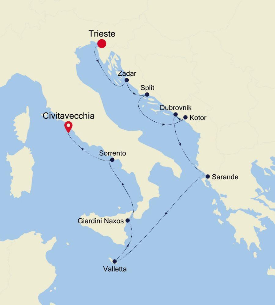 MO200806011 - Trieste nach Civitavecchia
