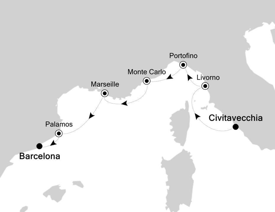 MO200817007 - Civitavecchia nach Barcelona