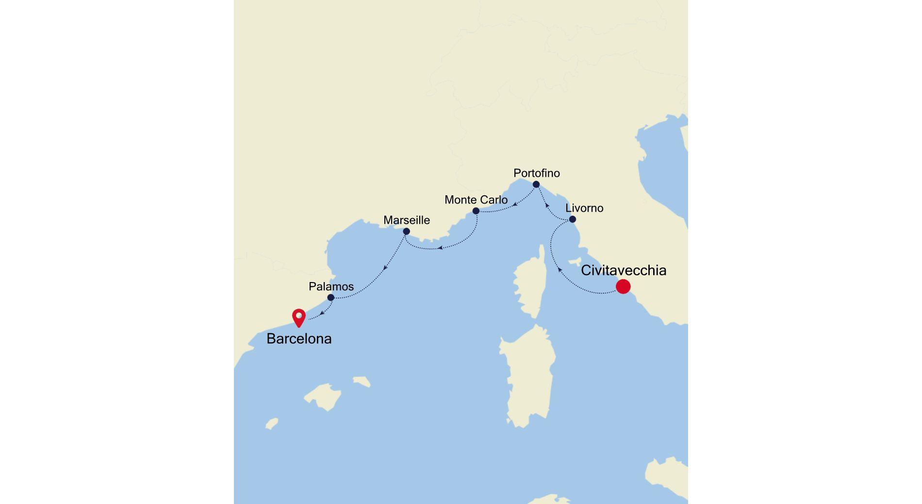 MO200817007 - Civitavecchia to Barcelona
