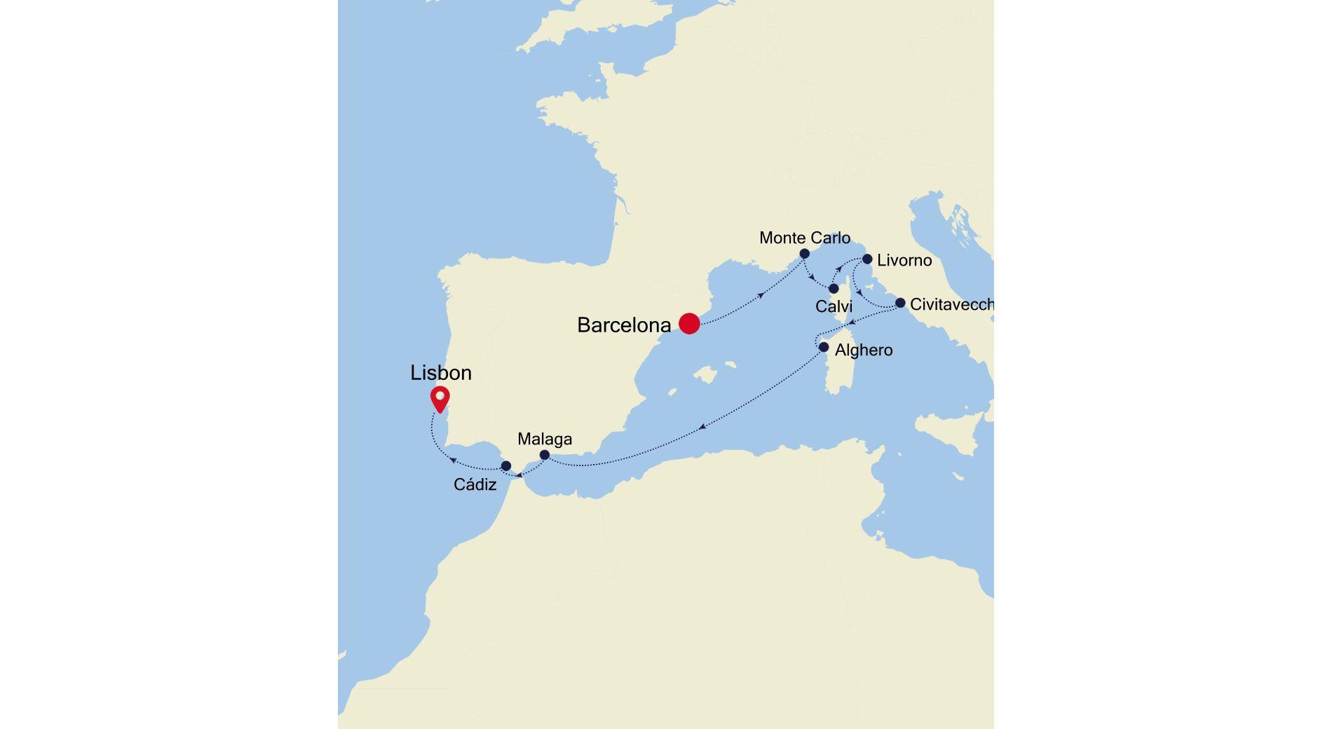 MO200824010 - Barcelona to Lisbon