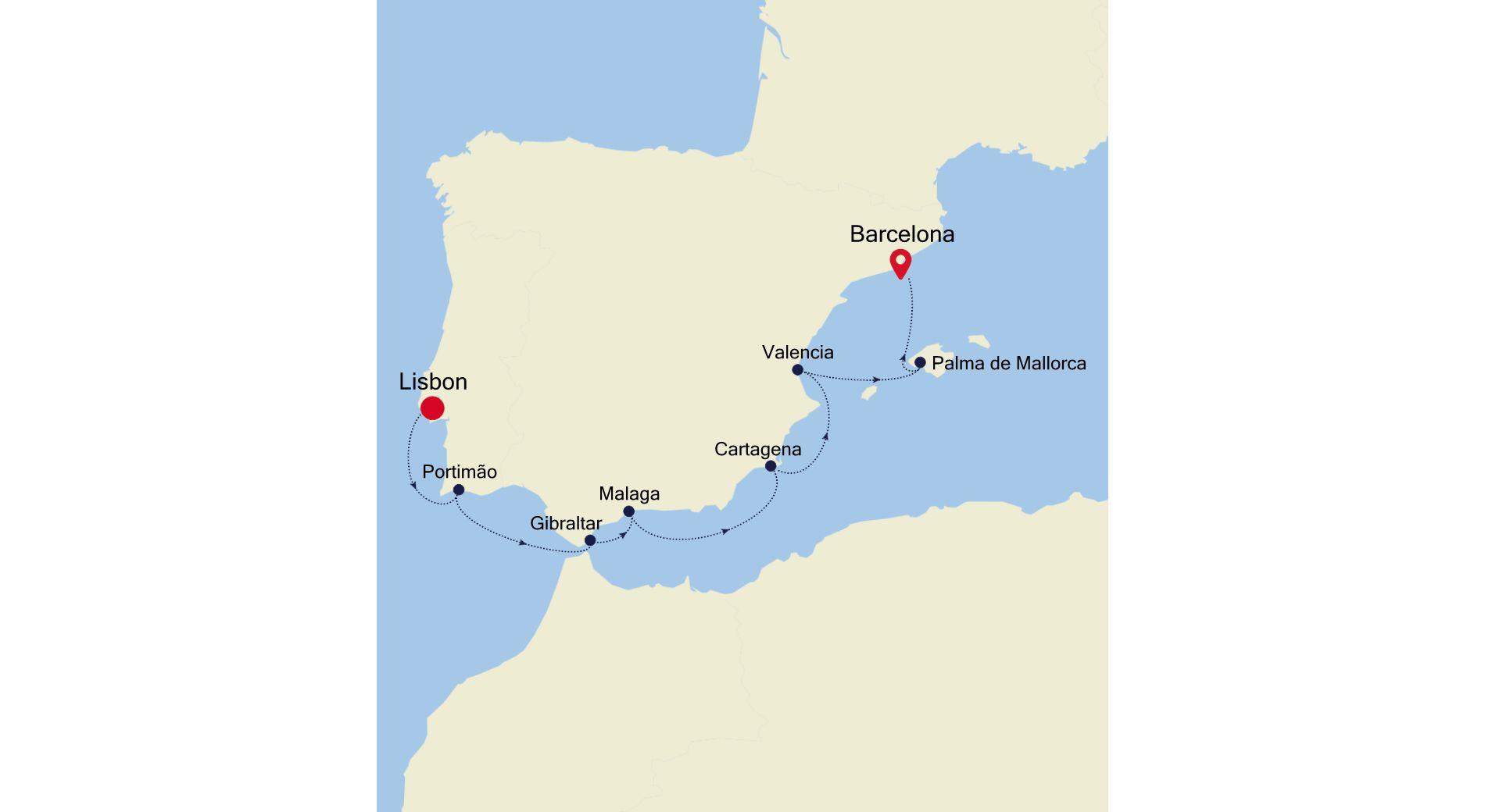 MO200903009 - Lisbon nach Barcelona