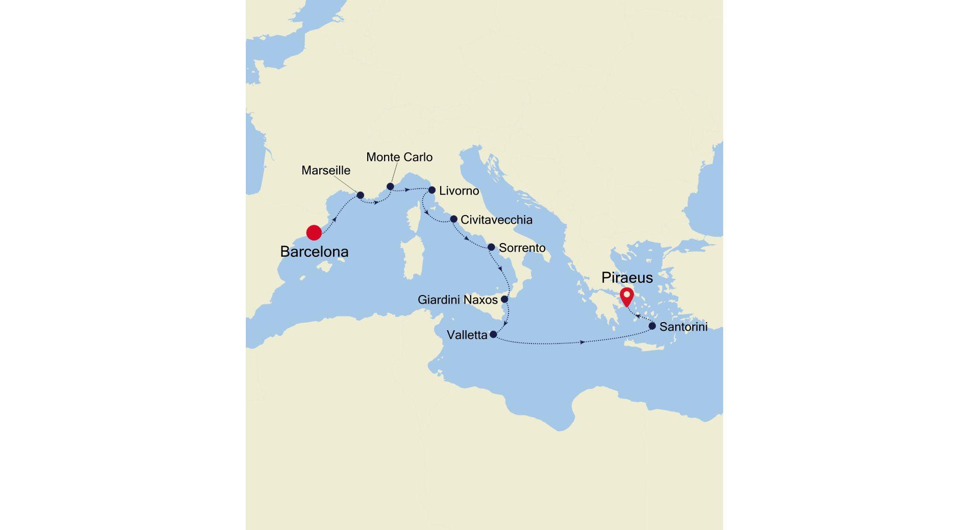 MO200912011 - Barcelona a Piraeus