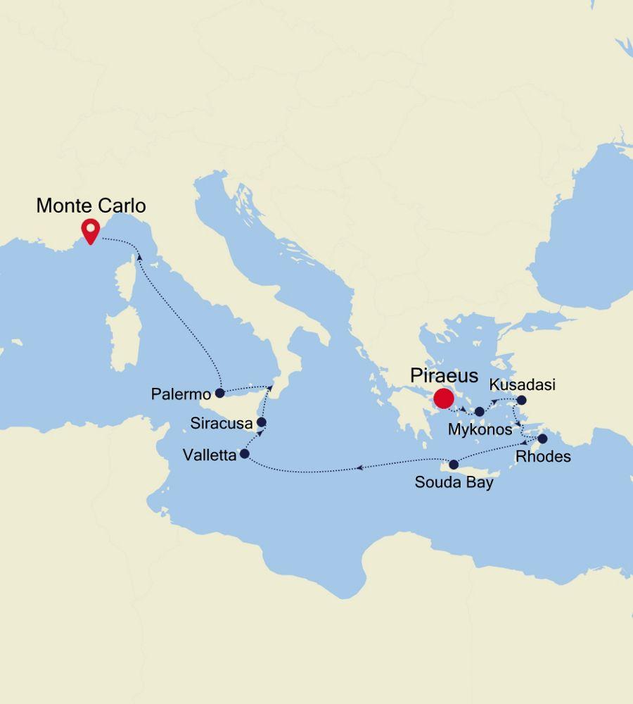 MO201019011 - Piraeus nach Barcelona