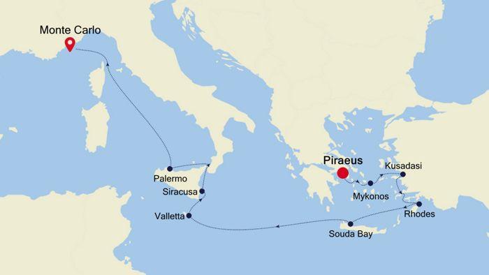 Luxury Cruise From Athens Piraeus To Barcelona 19 Oct 2020