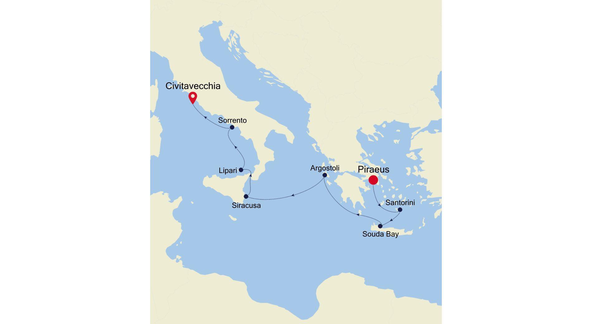 MO210517007 - Piraeus a Civitavecchia
