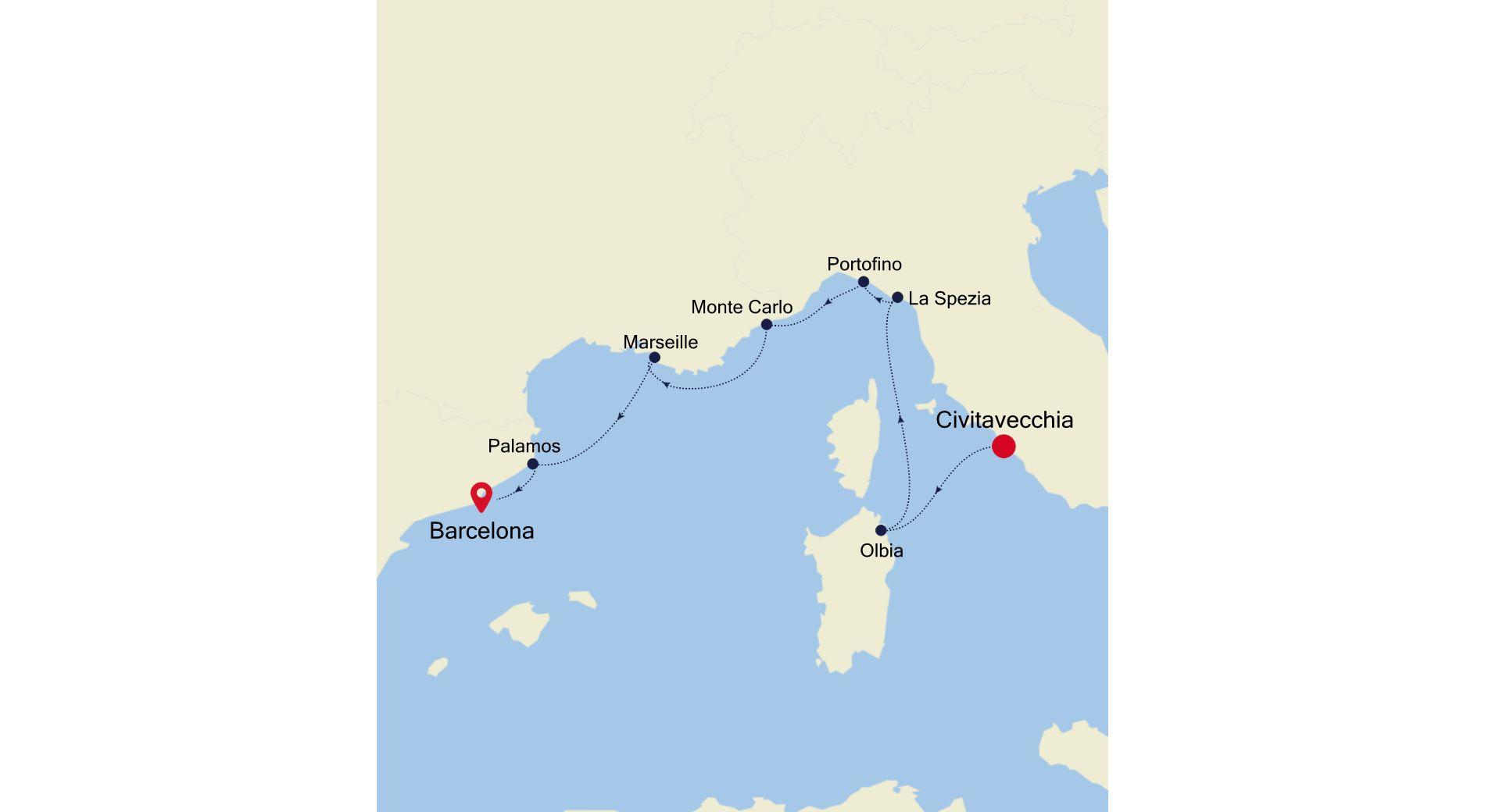 MO210524007 - Civitavecchia to Barcelona