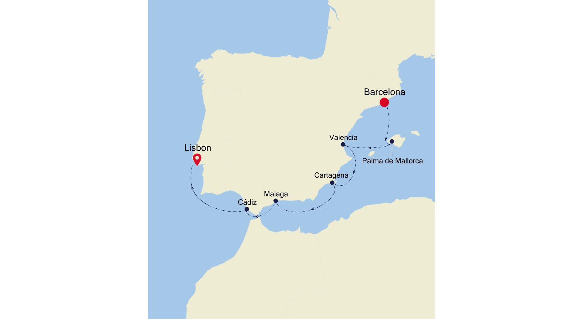 MO210531007 - Barcelona nach Lisbon