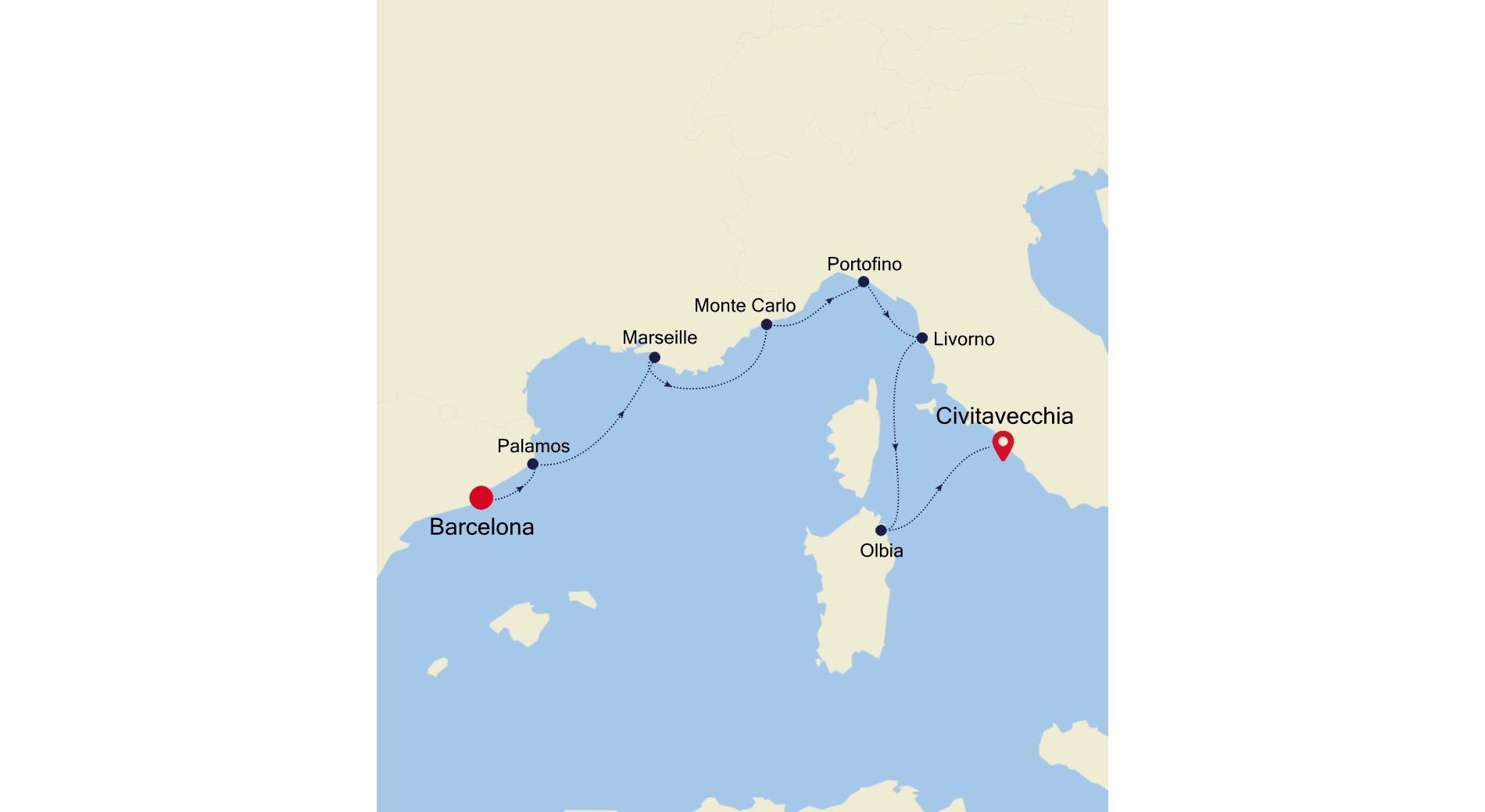MO210614007 - Barcelona nach Civitavecchia