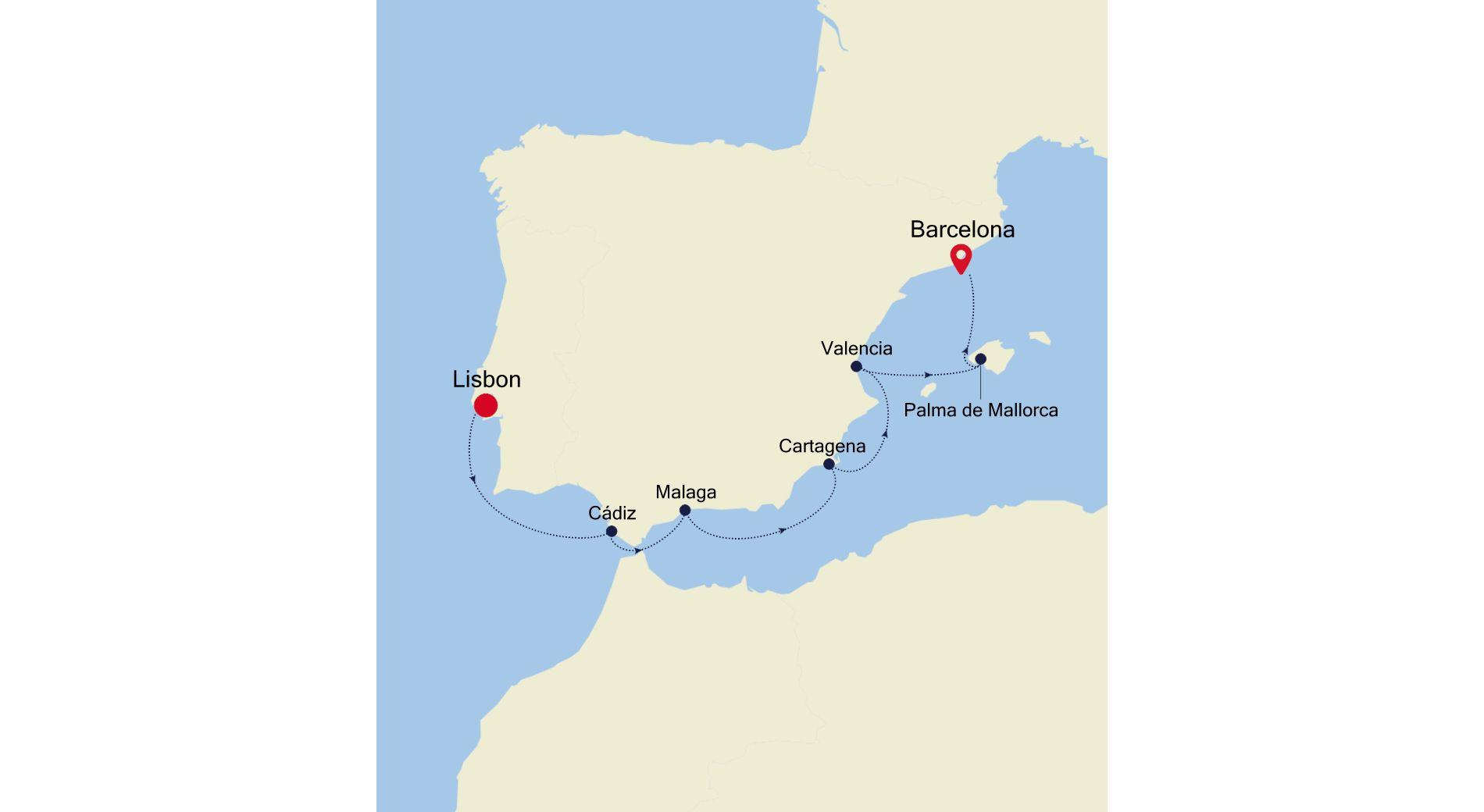 MO210809007 - Lisbon a Barcelona