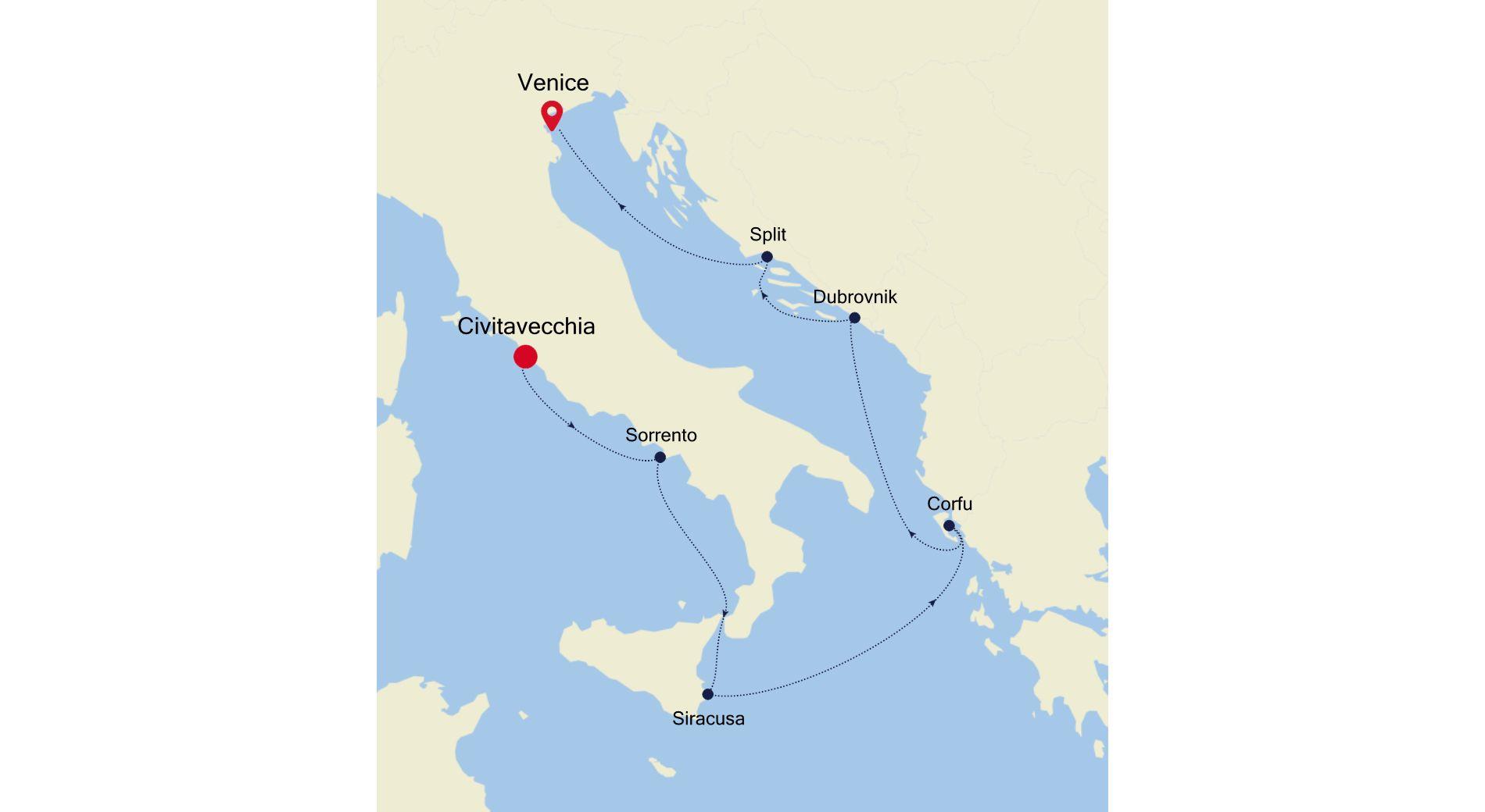 MO211007007 - Civitavecchia a Venice