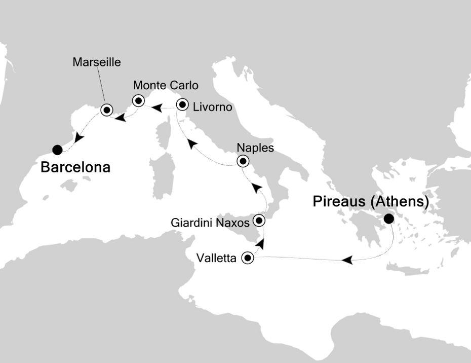 3931 - Piraeus to Barcelona