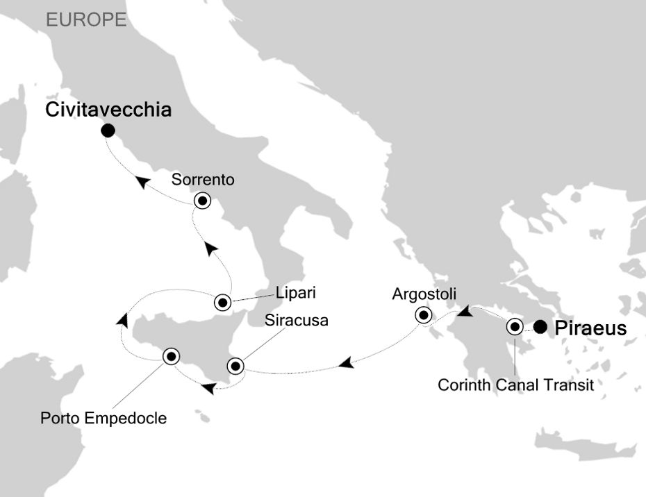 2818 - Piraeus to Civitavecchia