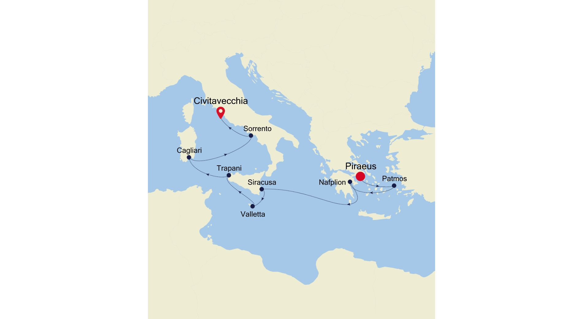 3918 - Piraeus to Civitavecchia