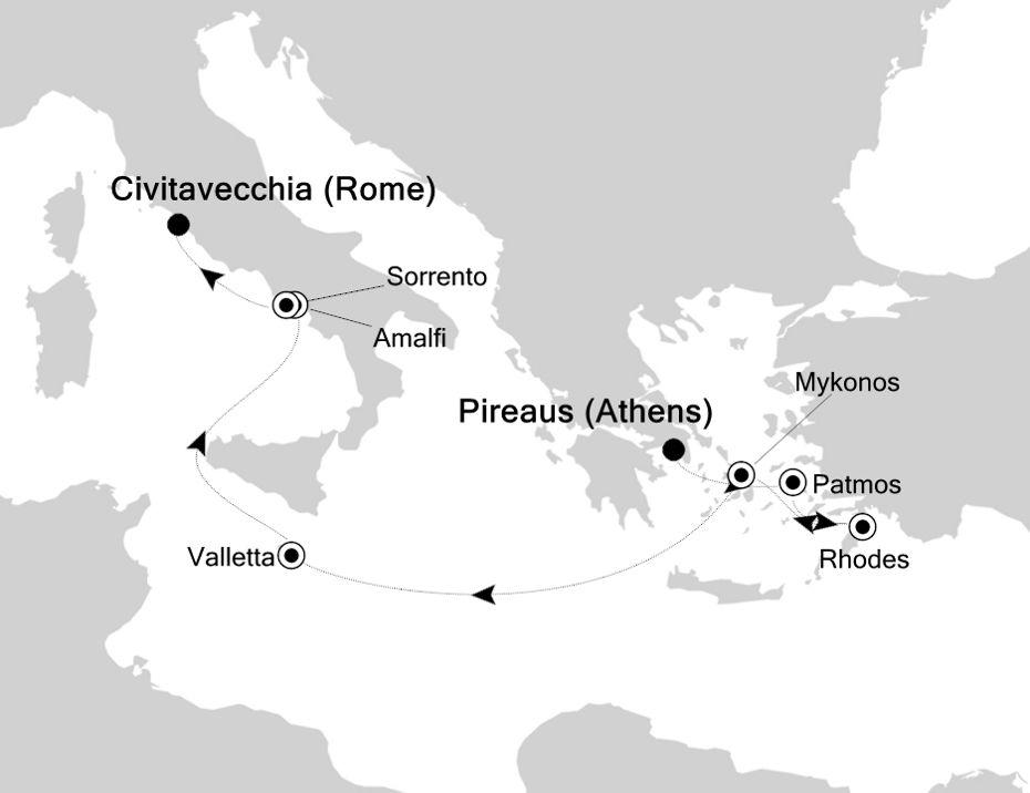 6815 - Piraeus à Civitavecchia