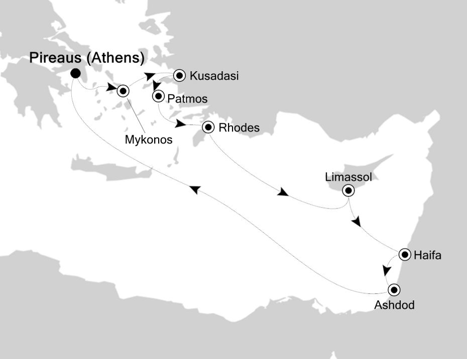 3930 - Piraeus to Piraeus