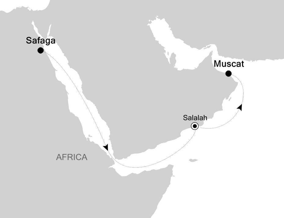 6829A - Safaga nach Muscat