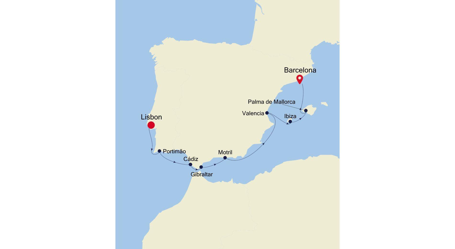 3923A - Lisbon nach Barcelona