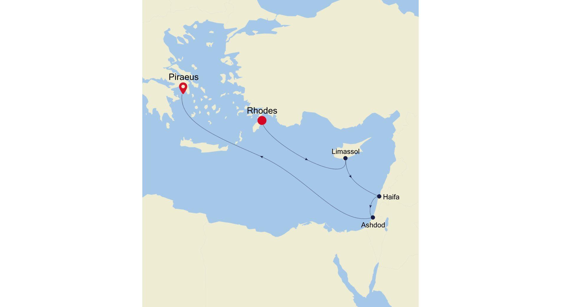 3930Q - Rhodes a Piraeus