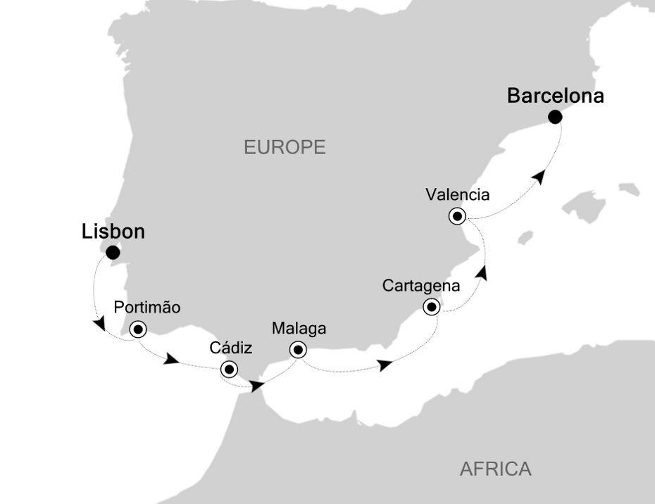SS200409007 - Lisbon à Barcelona