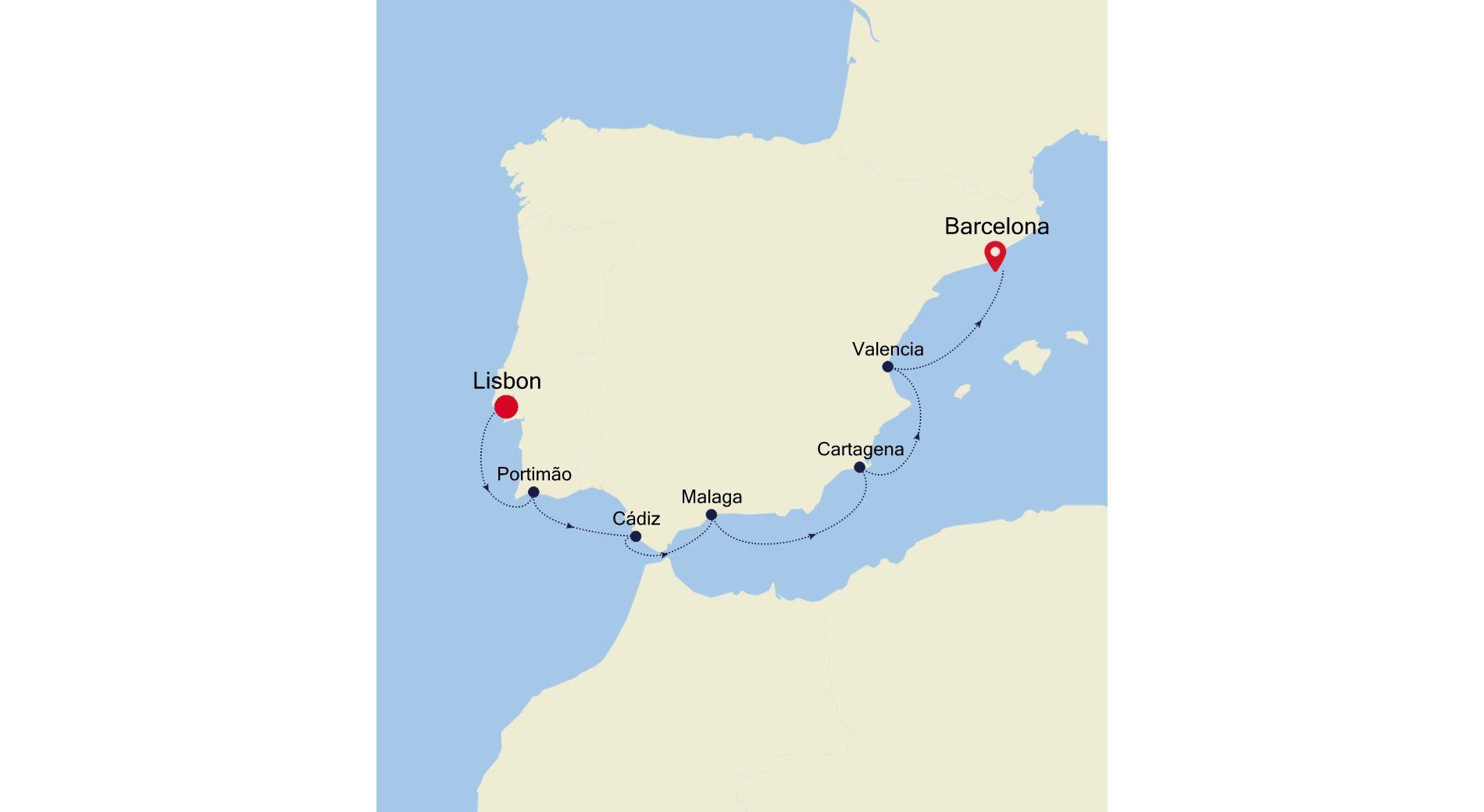 SS200409007 - Lisbon nach Barcelona