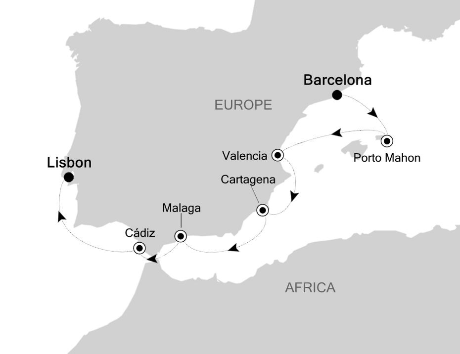 SS200416007 - Barcelona a Civitavecchia