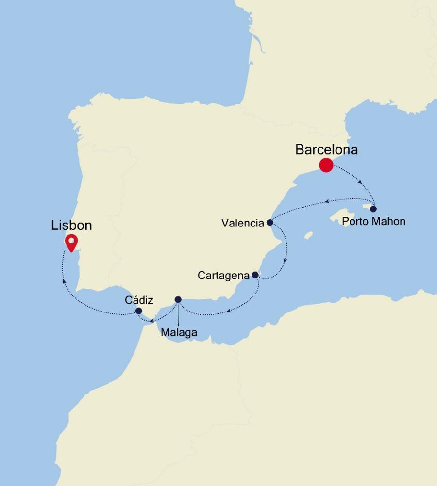 SS200416007 - Barcelona to Civitavecchia