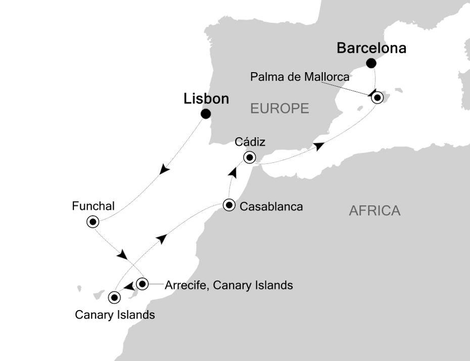 SS200423010 - Civitavecchia nach Barcelona